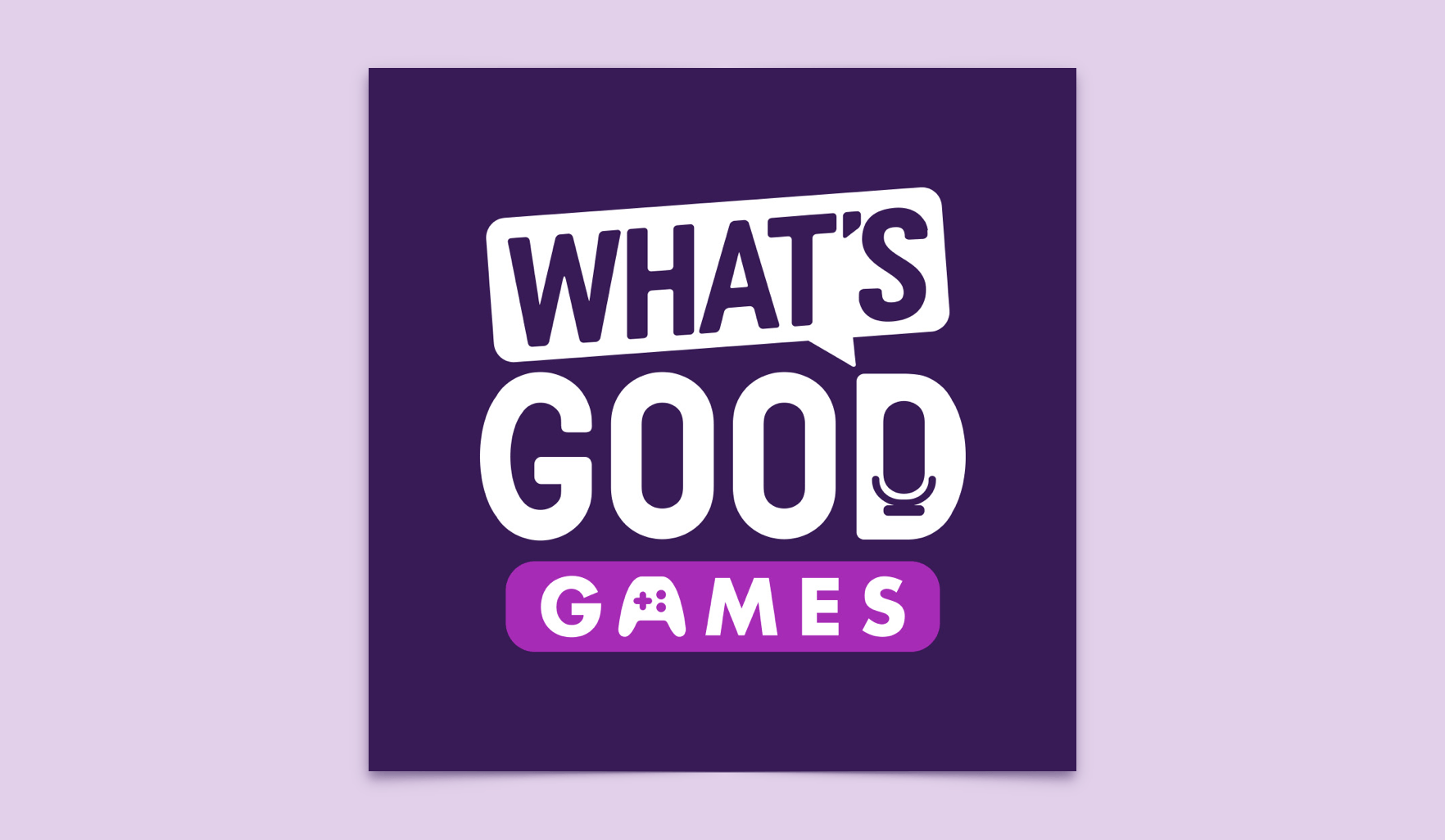 """What's Good Games"" Logo"