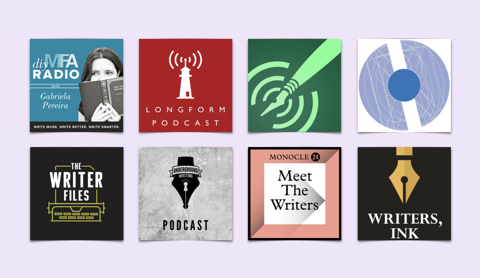 eight podcasts for writers